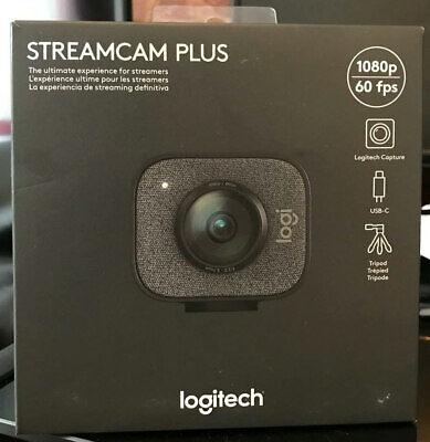 Logitech StreamCam Plus (Graphite) Full HD camera for Youtube Zoom live stream
