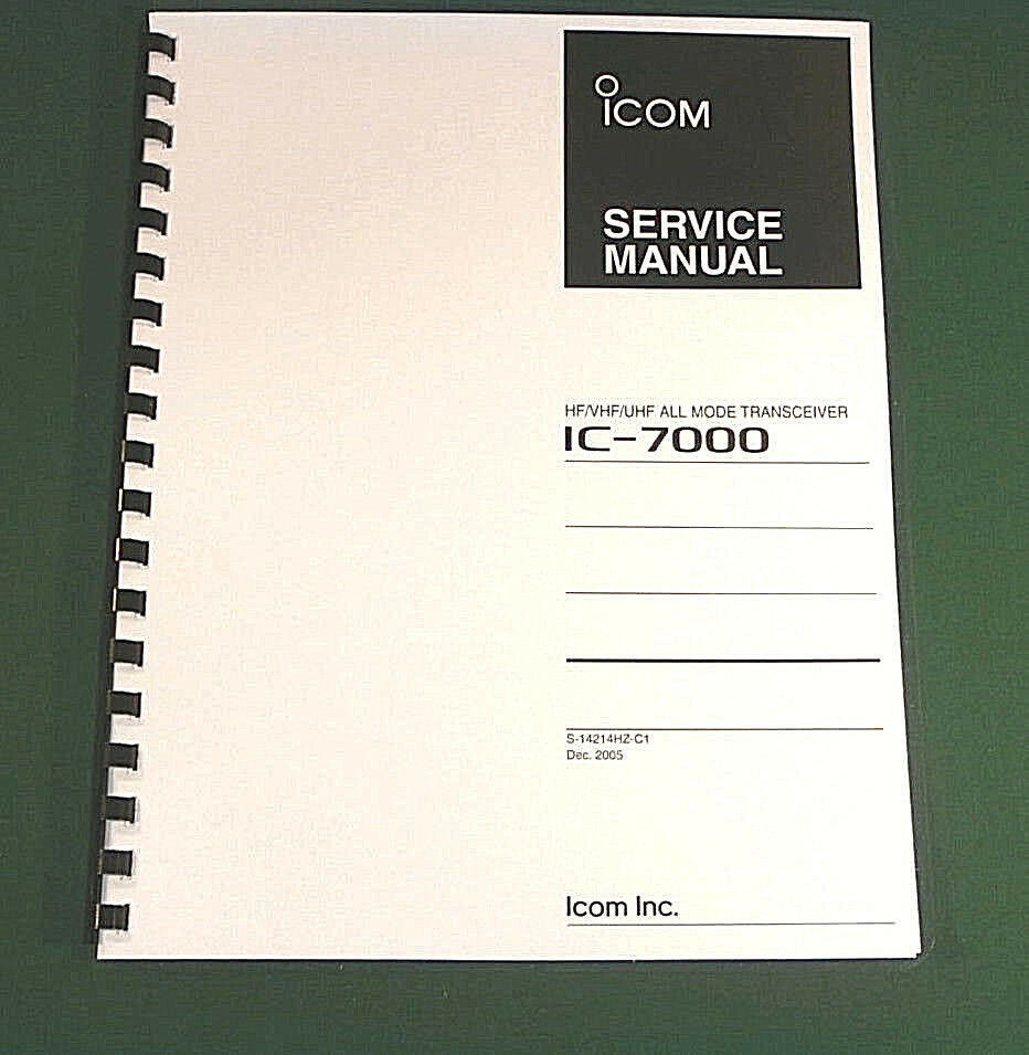 "Icom Ic-7000 Service Manual: Full Color 11"" X 17"" Foldout..."