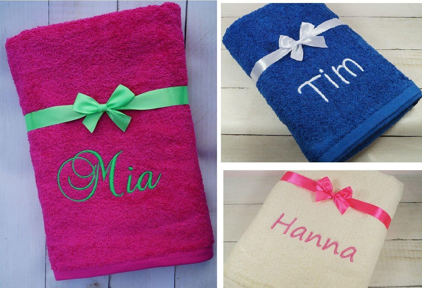 ★ Handtuch mit Namen bestickt ★ Badetuch ★  Weihnachten ★ Geschenk ★ 550 g/m2 ★