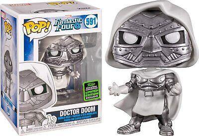 Funko POP 2020 ECCC Shared Exclusive 591 Dr. Doom (White)