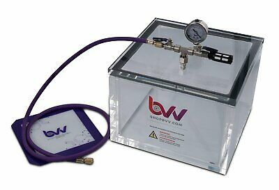 Bvv 3.3 Gallon Square 34 Acrylic Wall Vacuum Chamber