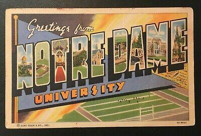Vintage Large Letter Postcard University of Notre Dame