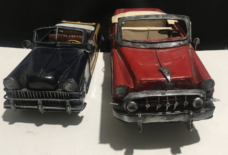 Lot Of 2 ~ Vintage Jayland Metal Cars