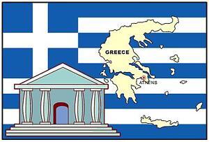 Grecia-mappa-amp-BANDIERA-Negozio-di-Souvenir-Magnete-del-frigorifero-NUOVO