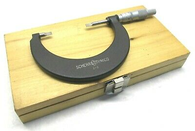 Nice Scherr-tumico 2 To 3 Carbide Tipped Blade Micrometer - .0001