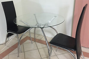 Glass Dining table and 4 chairs Brisbane City Brisbane North West Preview