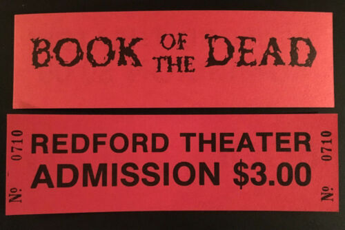 EVIL DEAD (BOOK OF THE DEAD) 1981 BLOOD RED PREMIERE TICKETS RARE! UNUSED MINT