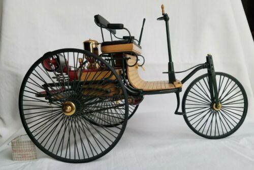 Franklin Mint 1886 MERCEDES BENZ PATENT MOTORWAGEN 1:8 Scale die-cast model