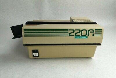 220a 220-072220 Zip Strip Inc Model 120 Paper Document Adhesive Strip Machine