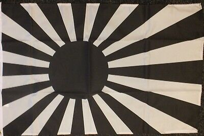 Japanese Rising Sun BLACK Teams Flag 5x3 Sports Japan Football Event Business bn