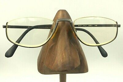Vintage Marchon Best Half Gunmetal Oval Reader Half-Rimmed Sunglasses Japan