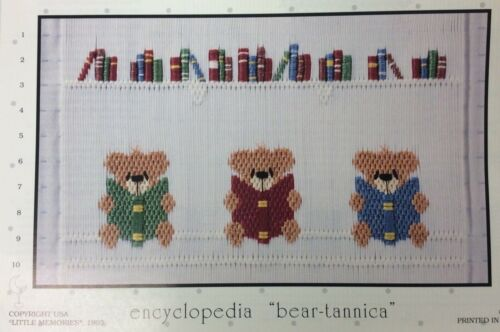 "LITTLE MEMORIES SMOCKING PLATE #079 ENCYCLOPEDIA ""BEAR-TANNICA"""