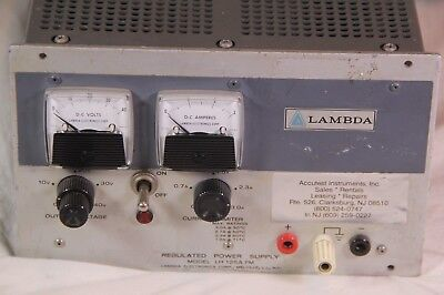 Lambda Model Lh 125a Fm Regulated Power Supply Lh-125a - Tested Working Great