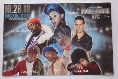 Prud Center Newark Handbill Cardi B G-Eazy Ella Mai Lil baby Lil Uzi Vert Juice