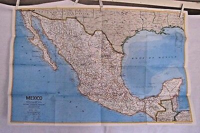 1973 National Geographic Map - Mexico - 22 x 34 inches
