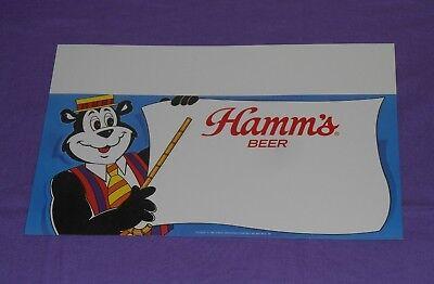 original HAMM'S BEER SHELF TALKER sign promo