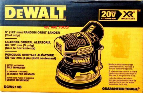 "New DeWalt DCW210B 20V MAX Cordless 5"" Variable Orbital Sander Brushless 20 Volt"