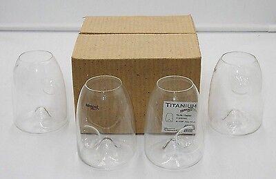 BRAND NEW ~ SET OF 4 RAVENSCROFT 14 OZ. STEMLESS CRYSTAL TASTER - 4 Ravenscroft Crystal