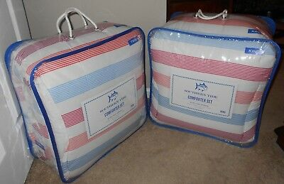 Southern Tide Long Bay Stripe Comforter Set Twin or King NWT Bay Stripes King Quilt