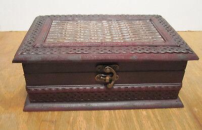 Rustic Torched Wood Decorative Box / Jewelry & Trinket Storage Chests w/ Latch