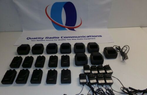 Lot of TEN Apollo PRO VP200 Pro 33-37 MHz Low Band Fire EMS Pagers & Cradle