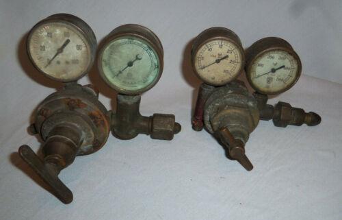 Lot of 2 Vintage REGULATORS - GAUGES - U.S. Guage Co & REGO Steampunk Industrial