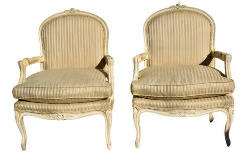 Vintage Pair of Venetian Style Bergere Type Chairs