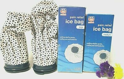 "Ice Bag Pain Relief ,1 Large Ice Bag (3 QT) 11"" &1 Medium Ice Bag (2 QT) 9"""