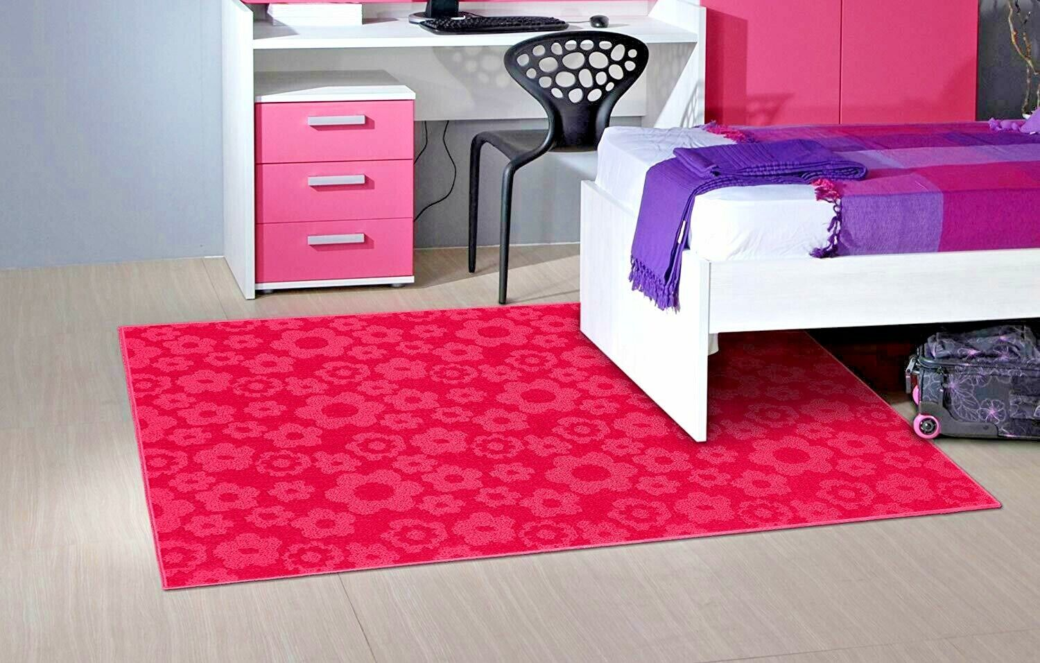 Picture of: Rugs Area Rugs Cheap Kids Pink Large Childrens Floral Girls Room Bedroom Rugs Ebay
