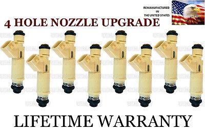 *BEST UPGRADE* 4 Hole Nozzle Set Of 8 Fuel Injectors for Dodge 5.9L 5.2L (Best Ram 1500 Upgrades)