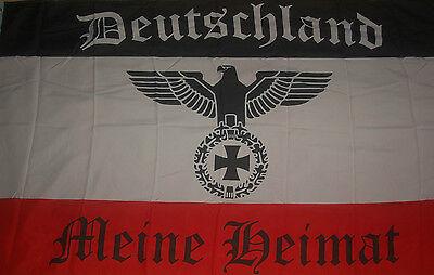 Deutschland  Meine Heimat Adler Fahne Flagge Hißflagge Hissflagge 150 x 90 cm