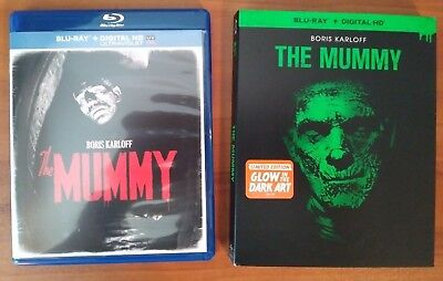 The Mummy (Blu-ray, 2014) Glow in the Dark Slipcover -No Digital