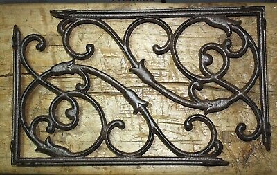 2 Cast Iron Antique Style HUGE VINE Brackets Garden Braces Shelf Bracket HD