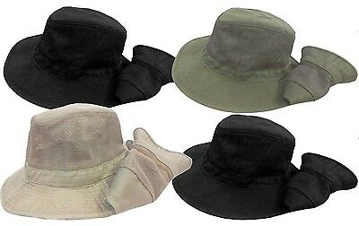 Boonie Fishing Hiking Army Military Mesh Bucket Sun Hat Cap-Black, Olive Green Boonie Hat Olive