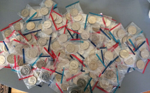 Old Rare UNCIRCULATED US Kennedy Half Dollar in Mint cello Coin Mixed Lot!!