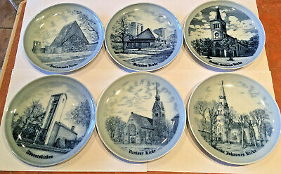 6 PIECE SKOTSMAN JENSON DANISH PLATE SET