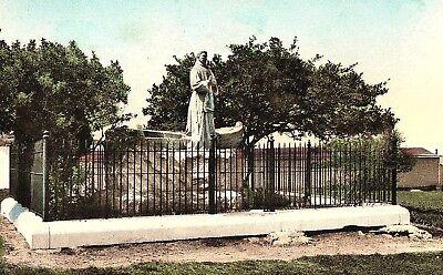 Vintage Statue Father Junipero Serra, Del Monte, CA. Hand Colored Postcard (Serra Monte)