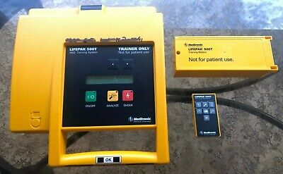 Medtronic Physio-control Lifepak 500t Aed Training System Remote Carrying Case
