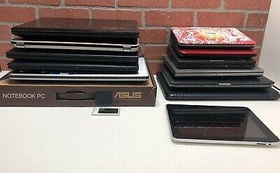 Lot 14 Laptops Dell Inspiron mini Asus Notebook HP Elite Samsung Lenovo Ipad