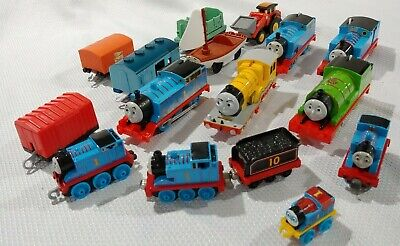 Skiff Railboat, Chest & Thomas Train Percy James Trackmaster Lot of Trains cars