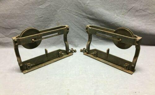 Pair Lanes Parlor  Pocket Door Hangers Rollers Metal Vantage Old 21-21B
