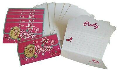 8 Stück Barbie Party Einladungen Kindergeburtstag Mädchen Einladungskarten OVP