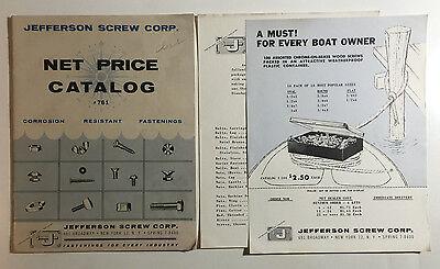 Jefferson Screw Corp Catalog 761 Corrosion Resistant Fastenings NYC Circa 1950s