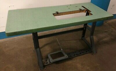 Vintage Singer Industrial Sewing Machine K-leg Table And Top. Our 3