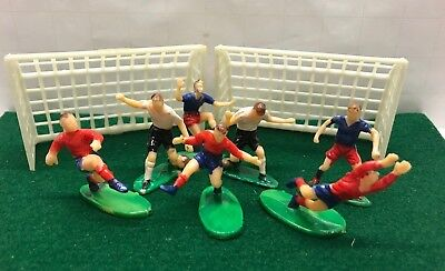 Lot VTG SET SOCCER Game Cupcake Cake Topper Figurine Team Players Goal Futbol  - Soccer Cupcake Toppers