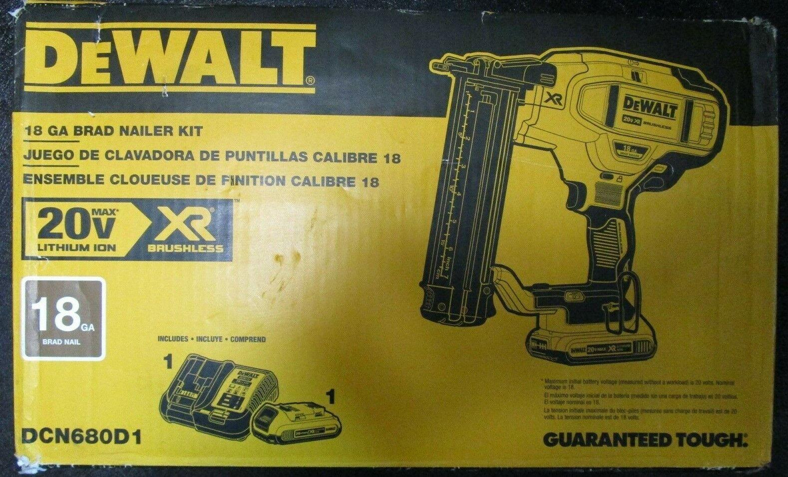 DEWALT DCN680D1 20V Cordless Nailer Kit BRAND NEW