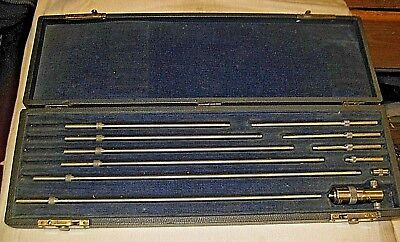 Starrett Depth Gage 10 Rods In Browne Sharpe Case