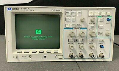 Hewlett Packard 54602b 150 Mhz 4 Channel Oscilloscope Nice Working Unit