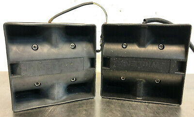 2x Whelen Sa314 Assembly Box Sirenpa Speakers - Made In The Usa