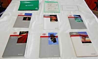 2012 TOYOTA PRIUS V OWNER MANUAL 7/PC.SET+NAVIGATION &GREEN TOYOTA FACTORY CASE